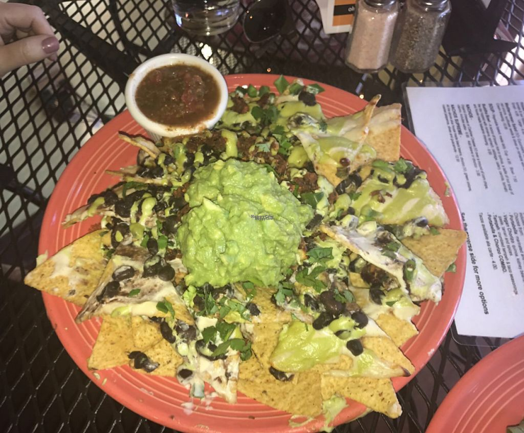 """Photo of Nectar Cafe  by <a href=""""/members/profile/Breda"""">Breda</a> <br/>supreme vegan nachos <br/> February 27, 2017  - <a href='/contact/abuse/image/44264/230899'>Report</a>"""