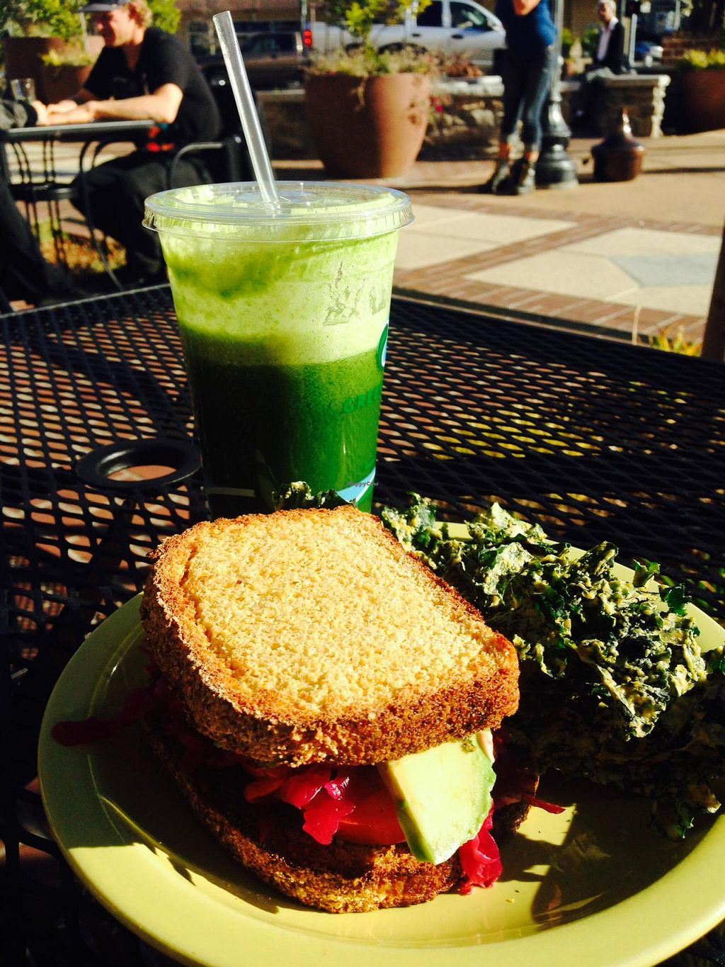 """Photo of Nectar Cafe  by <a href=""""/members/profile/quintess6"""">quintess6</a> <br/>Yum-which and tropical green juice :) <br/> January 4, 2014  - <a href='/contact/abuse/image/44264/61762'>Report</a>"""