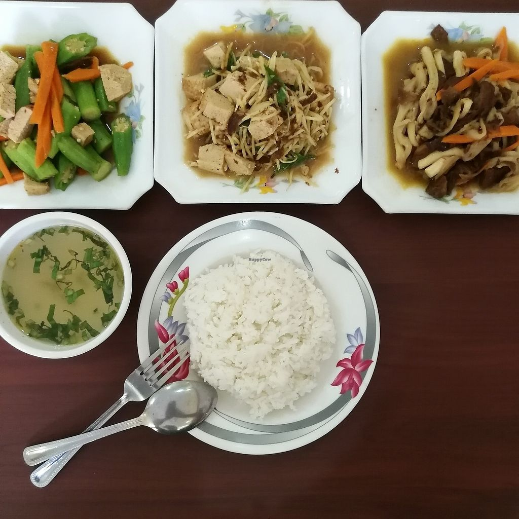"""Photo of Maitreya Healthy Vegetarian Resturant  by <a href=""""/members/profile/Shilian165"""">Shilian165</a> <br/>all of this was 5usd <br/> July 16, 2017  - <a href='/contact/abuse/image/44288/280981'>Report</a>"""