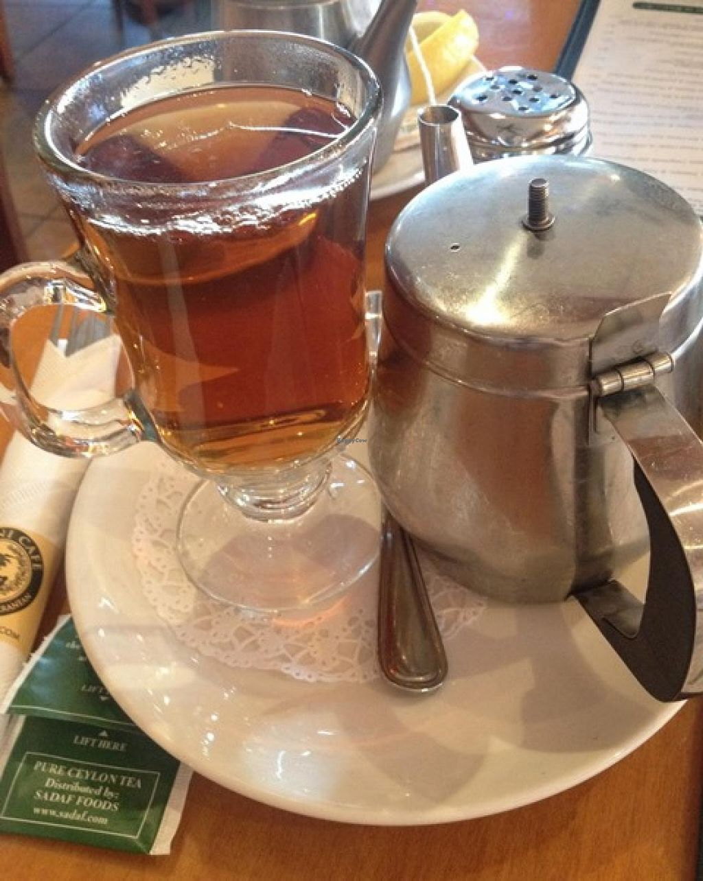 "Photo of Panini Cafe  by <a href=""/members/profile/Dalia23"">Dalia23</a> <br/>Sadaf Tea that I enjoyed at this restaurant.  <br/> December 28, 2013  - <a href='/contact/abuse/image/44307/61166'>Report</a>"