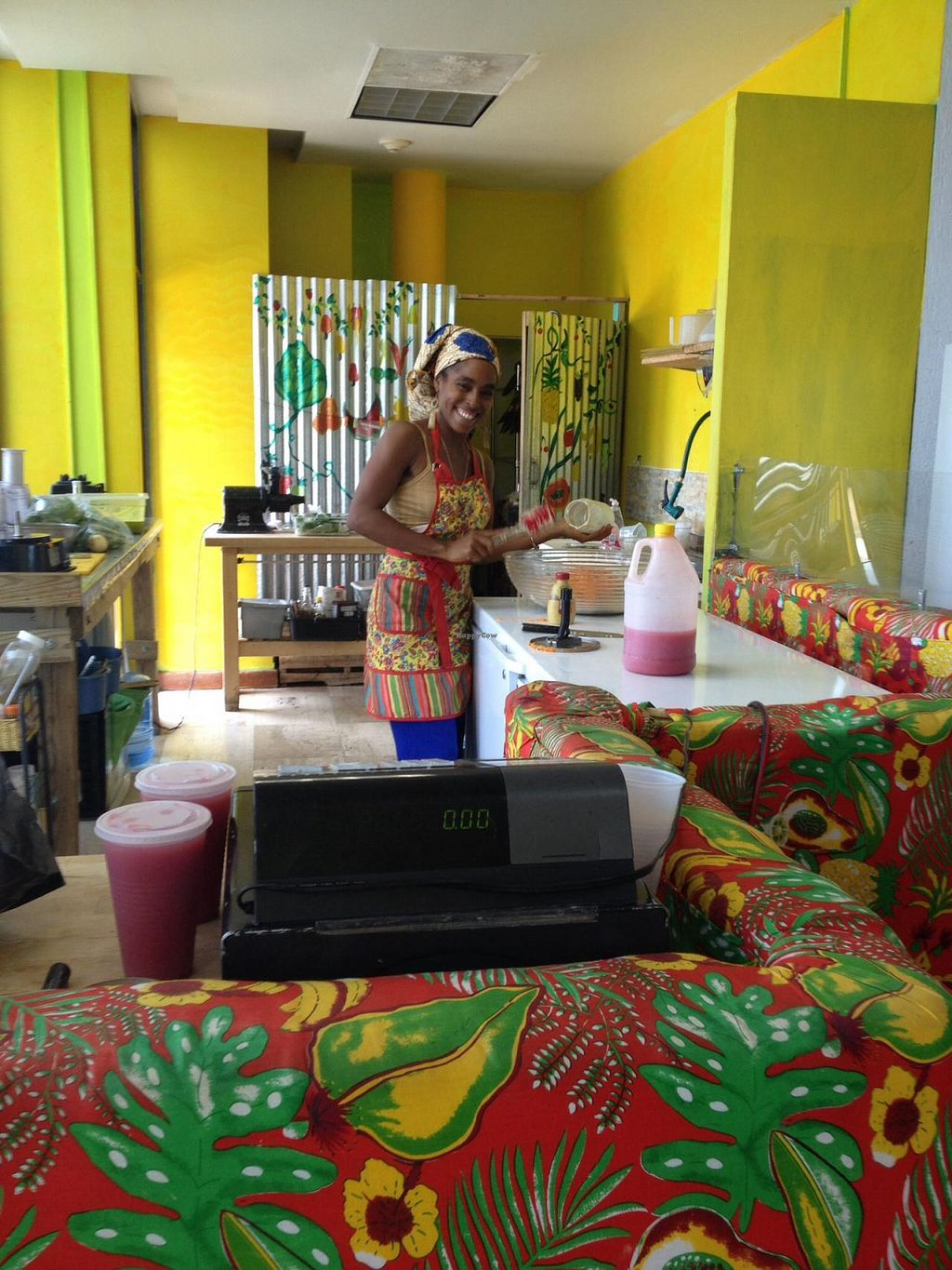 """Photo of CLOSED: Back-2-Live Cafe Living Delight  by <a href=""""/members/profile/Janelle"""">Janelle</a> <br/>Chef India at work! :) <br/> May 19, 2015  - <a href='/contact/abuse/image/44320/102761'>Report</a>"""