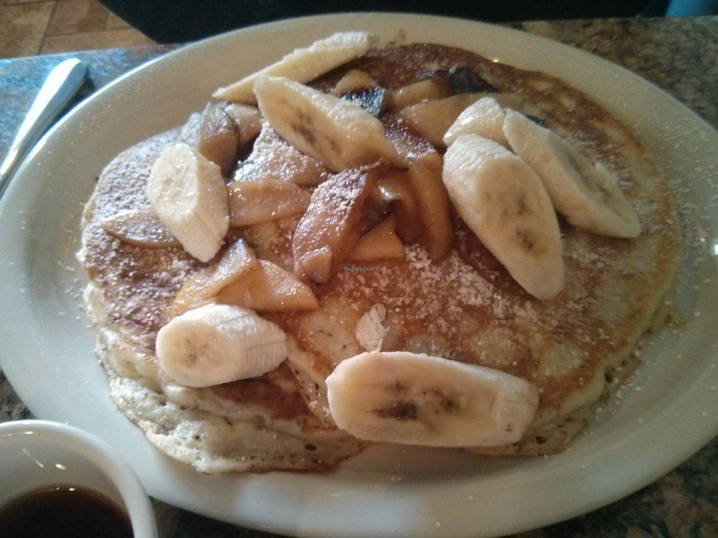 """Photo of Vegan Commissary  by <a href=""""/members/profile/RachelLouise"""">RachelLouise</a> <br/>Pancakes <br/> May 9, 2014  - <a href='/contact/abuse/image/44323/69713'>Report</a>"""