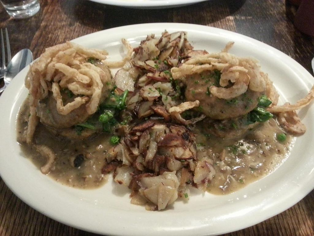 """Photo of Vegan Commissary  by <a href=""""/members/profile/butikiteas"""">butikiteas</a> <br/>Biscuits & gravy!  Delicious.  Biscuits are very dense.  The fried onions are great and there is a nice subtle smoke flavor <br/> May 18, 2014  - <a href='/contact/abuse/image/44323/70230'>Report</a>"""