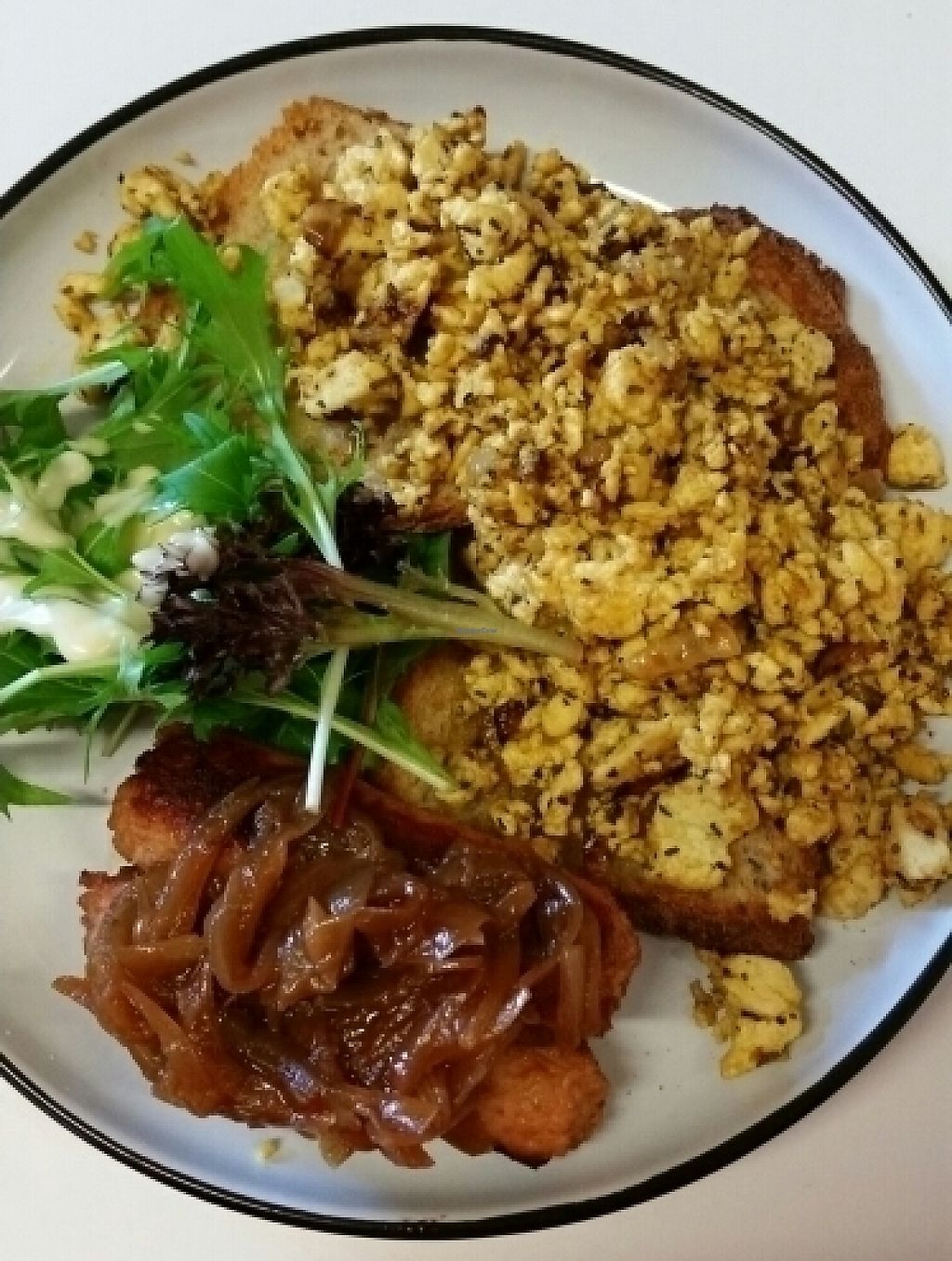 "Photo of The Pearfect Pantry  by <a href=""/members/profile/cseneque"">cseneque</a> <br/>tofu scramble and sausages <br/> July 24, 2016  - <a href='/contact/abuse/image/44360/276701'>Report</a>"