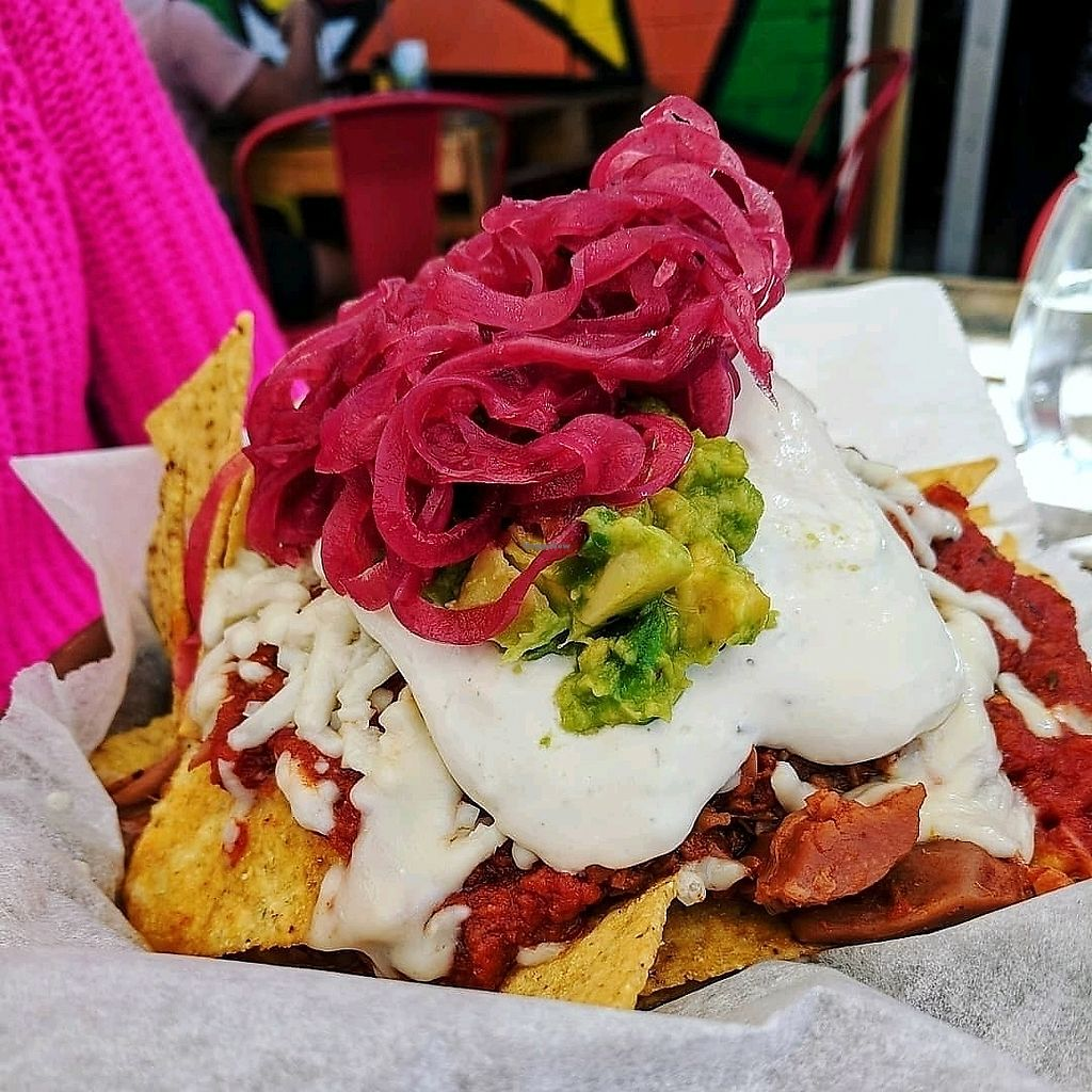 "Photo of The Pearfect Pantry  by <a href=""/members/profile/RIPdemon"">RIPdemon</a> <br/>Vegan 'pulled pork' nachos <br/> April 15, 2018  - <a href='/contact/abuse/image/44360/385977'>Report</a>"
