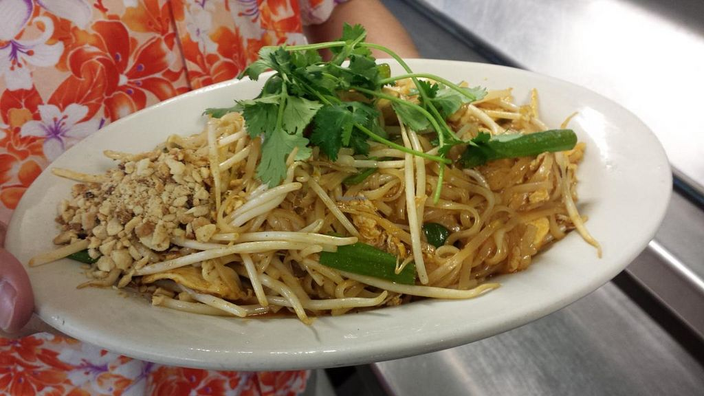"""Photo of Thai Spices  by <a href=""""/members/profile/omboo"""">omboo</a> <br/>A Thai favorite!  Rice noodles stir fried with organic chicken, eggs, bean sprouts, green onions and a tasty sauce garnished with freshly ground - (also available in vegetarian style) <br/> January 7, 2014  - <a href='/contact/abuse/image/44378/62051'>Report</a>"""