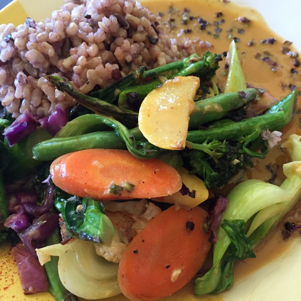 """Photo of Windmill Cafe  by <a href=""""/members/profile/Limitlesslove"""">Limitlesslove</a> <br/>Delicious vegan coconut curry. ☺️ <br/> December 29, 2015  - <a href='/contact/abuse/image/44415/130264'>Report</a>"""