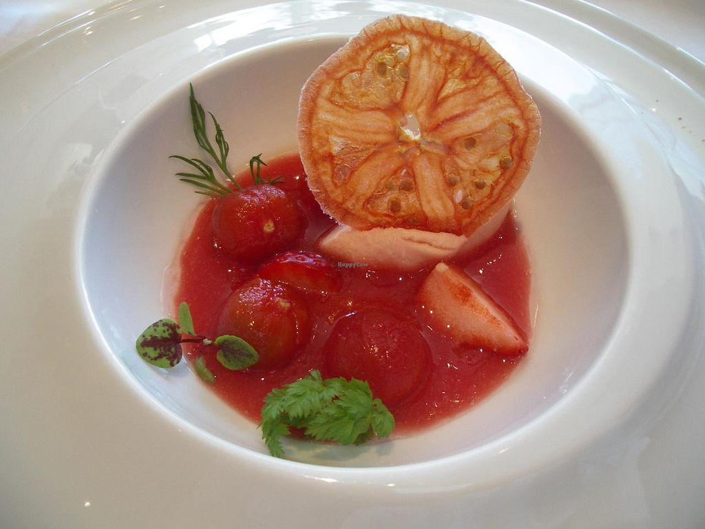 """Photo of Arcana Tokyo Karato  by <a href=""""/members/profile/Ricardo"""">Ricardo</a> <br/>Vegetable course (made vegan) part 3: dessert <br/> January 6, 2014  - <a href='/contact/abuse/image/44425/61970'>Report</a>"""