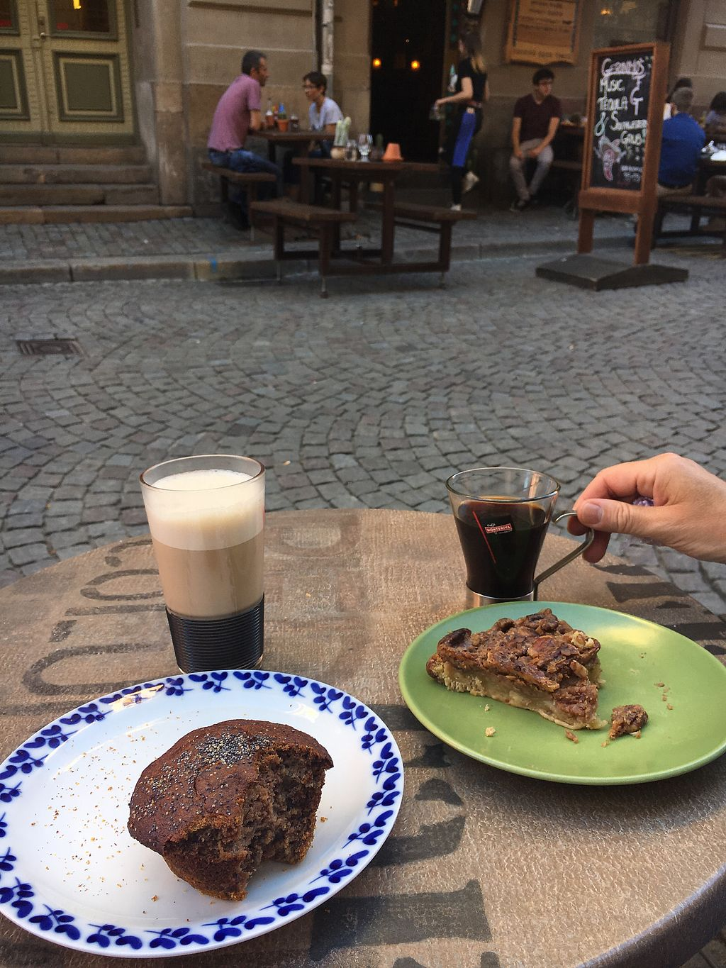"Photo of Sattva Naturbageriet  by <a href=""/members/profile/L1n23"">L1n23</a> <br/>buckwheat muffin, pecan pear pie, coffee & chai latte <br/> August 14, 2017  - <a href='/contact/abuse/image/4443/292611'>Report</a>"