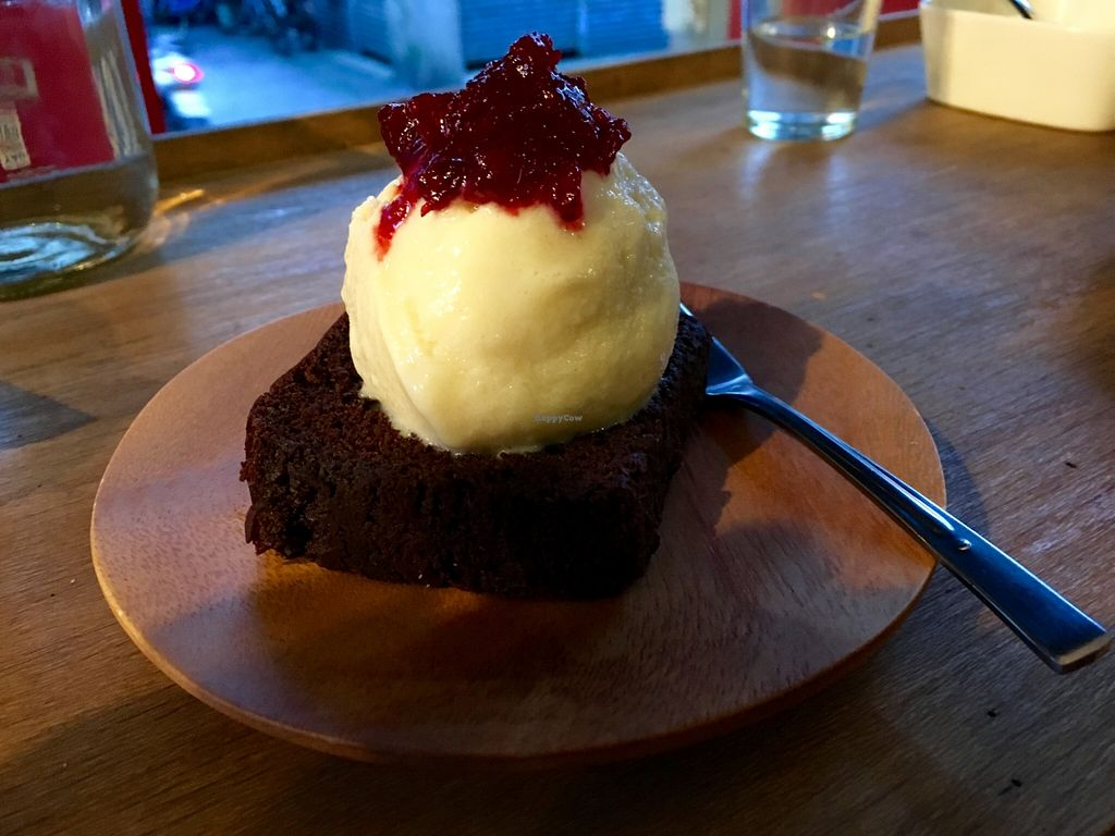 "Photo of CLOSED: About Animals  by <a href=""/members/profile/paulkates"">paulkates</a> <br/>Chocolate Pound Cake with Berry Jam and Soy Milk Ice-cream <br/> May 8, 2016  - <a href='/contact/abuse/image/44446/148099'>Report</a>"