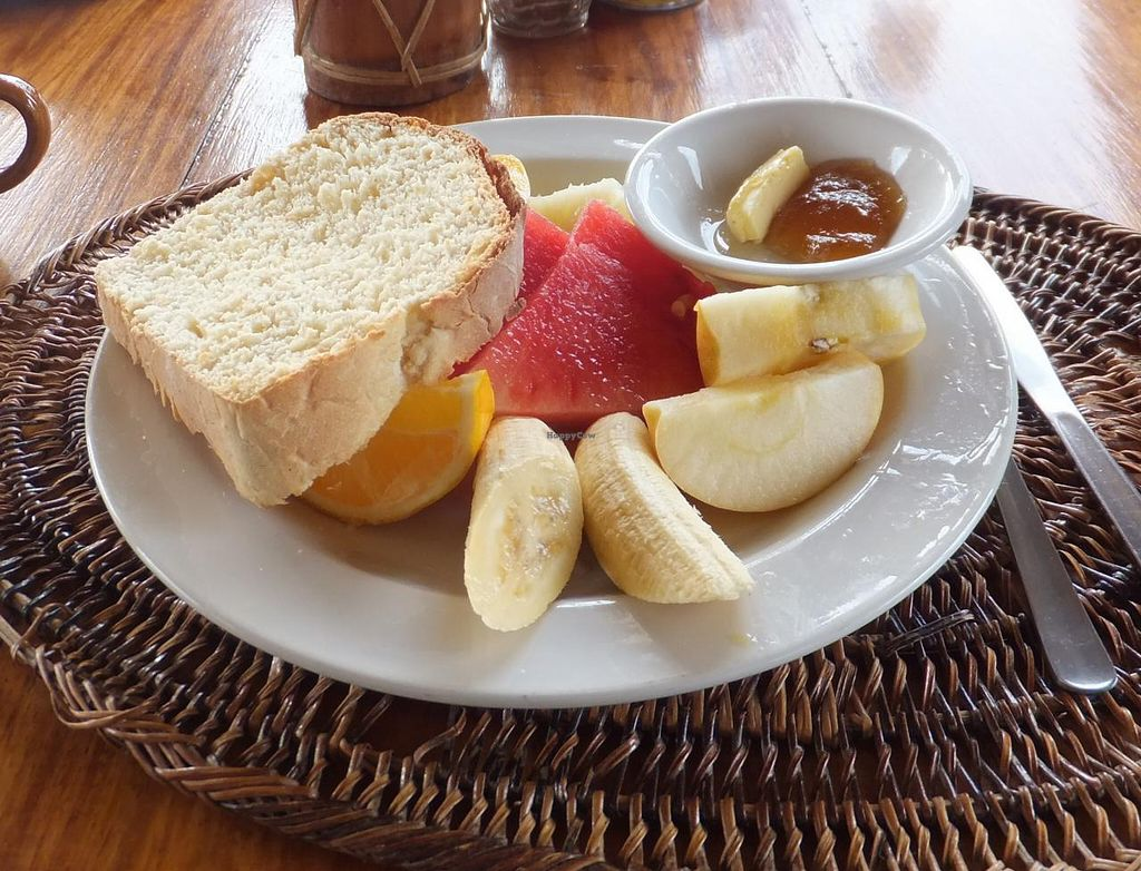 "Photo of Seadive Restaurant  by <a href=""/members/profile/Inoshishi"">Inoshishi</a> <br/>Breakfast fruit platter (order version without bread and butter to make it vegan) <br/> January 13, 2014  - <a href='/contact/abuse/image/44450/62451'>Report</a>"