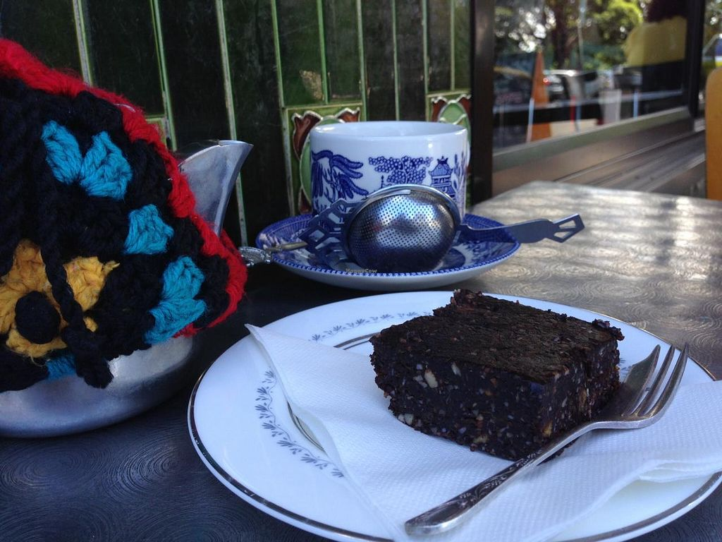 "Photo of Petty Cash Cafe  by <a href=""/members/profile/anarchistanimal"">anarchistanimal</a> <br/>Vegan brownie at Miss Petty Cash <br/> January 14, 2014  - <a href='/contact/abuse/image/44452/62462'>Report</a>"
