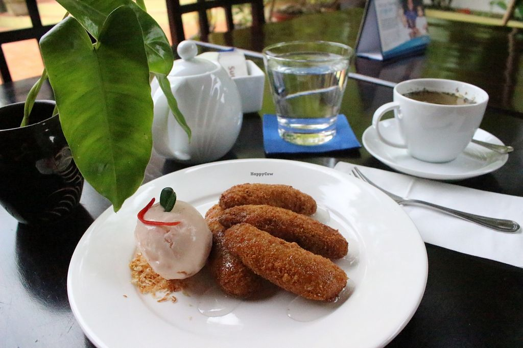 """Photo of Sandan  by <a href=""""/members/profile/JessicaEtmanski"""">JessicaEtmanski</a> <br/>Cashew Nut Crusted Banana Fritters with Kaffir Lime Syrup and Coconut Chili Gelato <br/> January 22, 2016  - <a href='/contact/abuse/image/44453/133348'>Report</a>"""