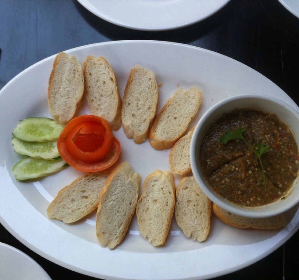 """Photo of Sandan  by <a href=""""/members/profile/Arvid"""">Arvid</a> <br/>Bread and eggplant dip starter ($3) <br/> February 3, 2016  - <a href='/contact/abuse/image/44453/134801'>Report</a>"""
