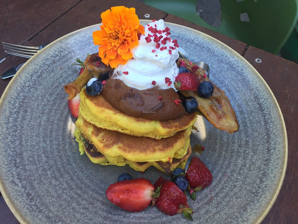 """Photo of Vudu Cafe and Larder  by <a href=""""/members/profile/Tiggy"""">Tiggy</a> <br/>Cinnamon pancakes $19 - A bit dry <br/> January 24, 2018  - <a href='/contact/abuse/image/44472/350590'>Report</a>"""