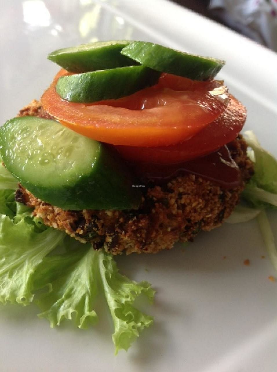 """Photo of Sun Yoga KL Cafe  by <a href=""""/members/profile/SunYogaKLcafe"""">SunYogaKLcafe</a> <br/>Vegan bean burger <br/> January 6, 2014  - <a href='/contact/abuse/image/44479/181203'>Report</a>"""