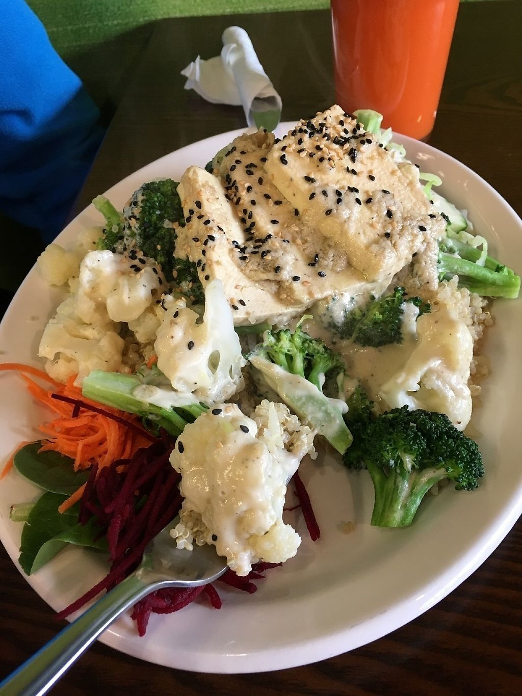 """Photo of Sejuiced  by <a href=""""/members/profile/vegan%20frog"""">vegan frog</a> <br/>Quinoa bowl with Gf option sauce <br/> May 20, 2017  - <a href='/contact/abuse/image/4451/260721'>Report</a>"""