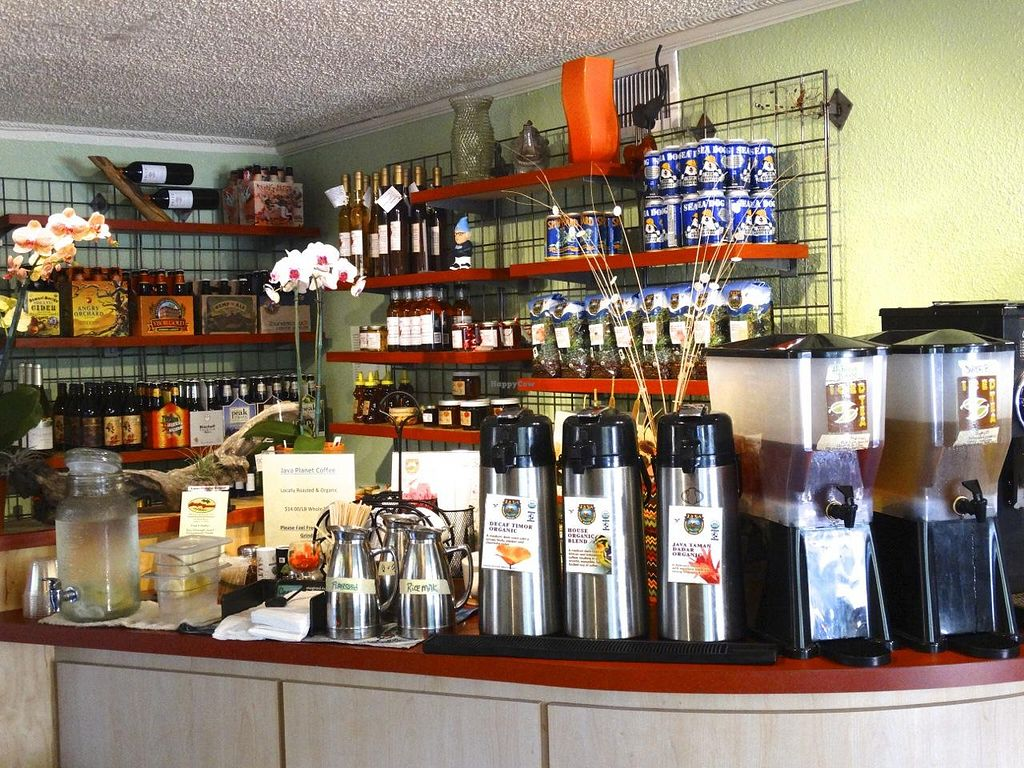 "Photo of Mangia Gourmet  by <a href=""/members/profile/Scott%20Linde"">Scott Linde</a> <br/>The coffee bar at Mangia Gourmet where you can enjoy delicious locally roasted organic coffees by Java Planet <br/> January 8, 2014  - <a href='/contact/abuse/image/44535/62079'>Report</a>"