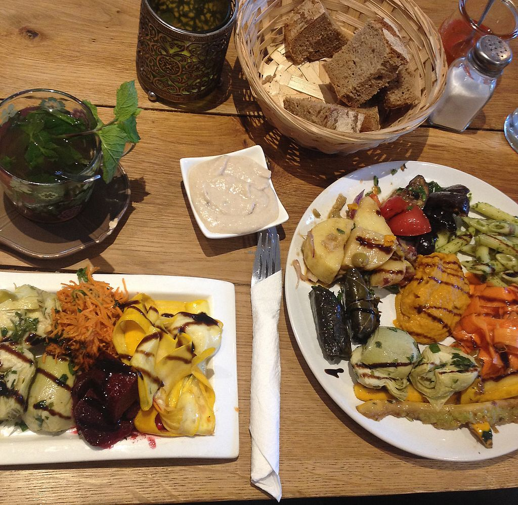 """Photo of Vengo Die Gemusekuche  by <a href=""""/members/profile/VeganGecko"""">VeganGecko</a> <br/>veggie antipasti plates (small and big size) <br/> June 29, 2017  - <a href='/contact/abuse/image/44543/274685'>Report</a>"""