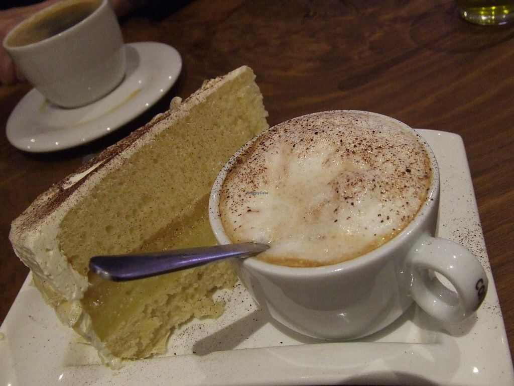 """Photo of Vengo Die Gemusekuche  by <a href=""""/members/profile/v_mdj"""">v_mdj</a> <br/>Vegan dessert with sojacappuccino <br/> March 15, 2014  - <a href='/contact/abuse/image/44543/65925'>Report</a>"""