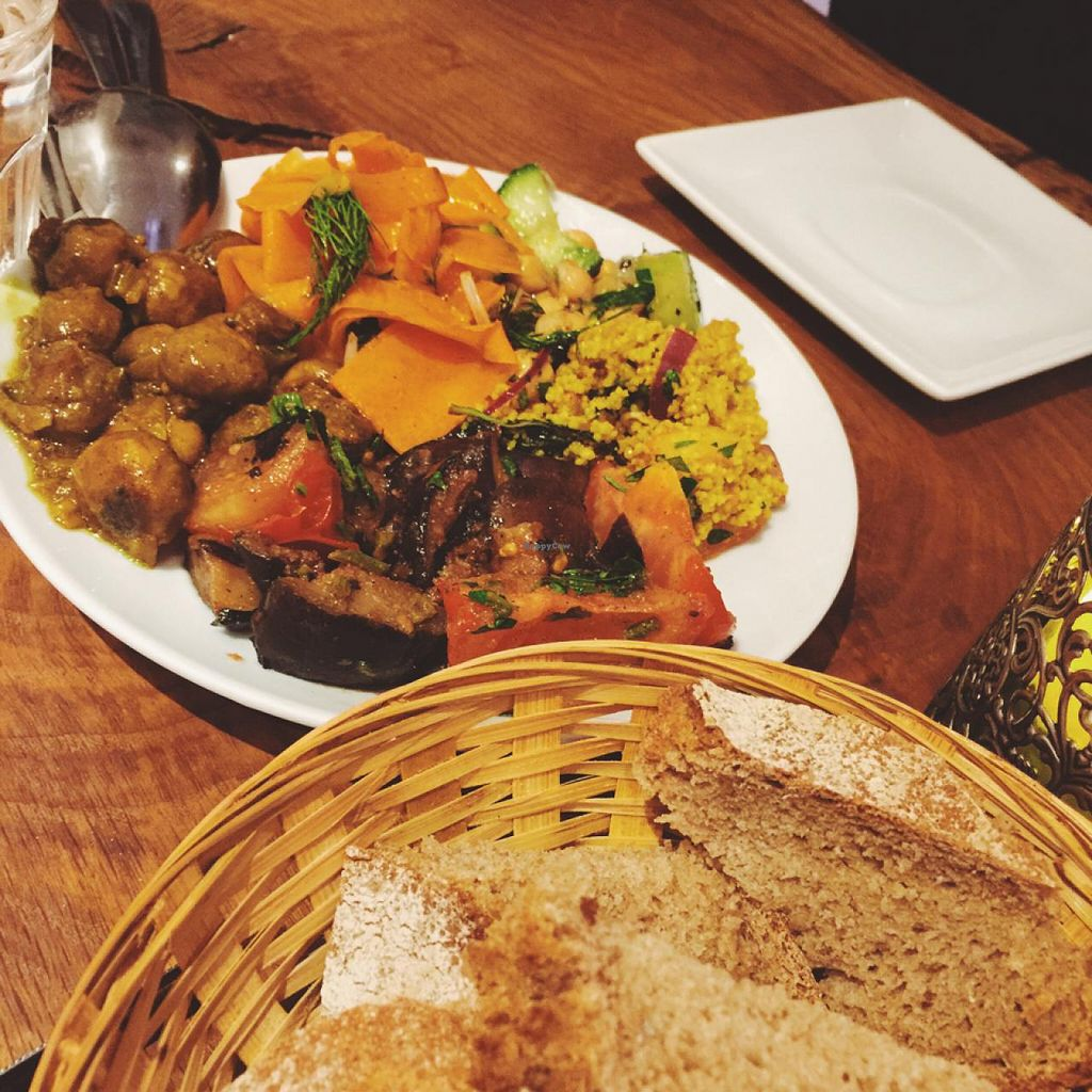 """Photo of Vengo Die Gemusekuche  by <a href=""""/members/profile/bisousb"""">bisousb</a> <br/>starter salad plate with 5 items <br/> January 12, 2015  - <a href='/contact/abuse/image/44543/90203'>Report</a>"""