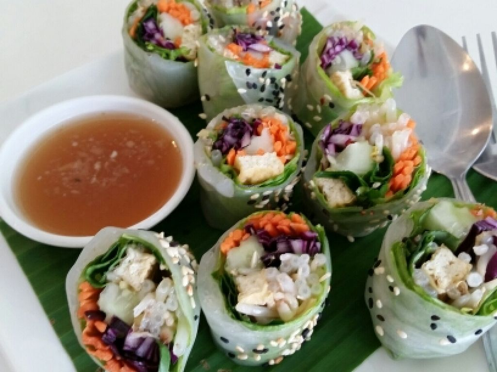 "Photo of Kin-Lum Vegetarian  by <a href=""/members/profile/eric"">eric</a> <br/>fresh rolls <br/> June 14, 2016  - <a href='/contact/abuse/image/44557/153825'>Report</a>"