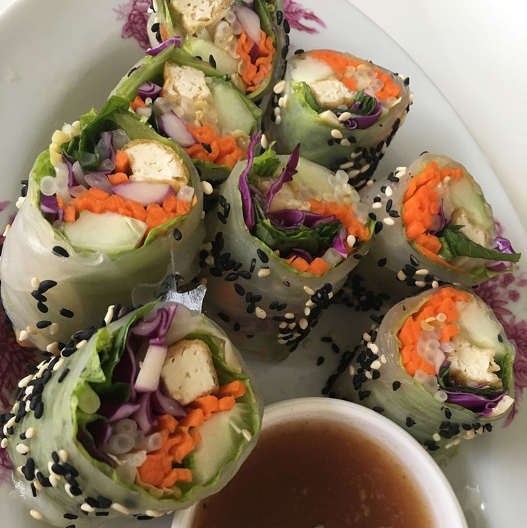 "Photo of Kin-Lum Vegetarian  by <a href=""/members/profile/utahnate%40yahoo.com"">utahnate@yahoo.com</a> <br/>Fresh spring rolls <br/> April 18, 2017  - <a href='/contact/abuse/image/44557/249593'>Report</a>"