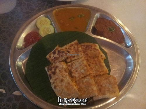 Photo of Gokul Vegetarian Restaurant and Cafe  by claireabella <br/>Mock mutton paratha <br/> July 6, 2012  - <a href='/contact/abuse/image/4455/34212'>Report</a>