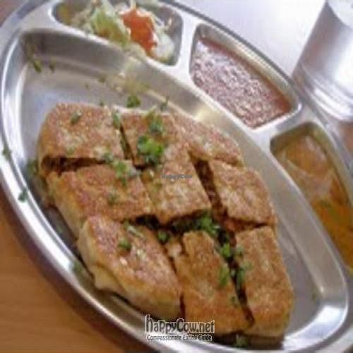 "Photo of Gokul Vegetarian Restaurant and Cafe  by <a href=""/members/profile/Peace%20..."">Peace ...</a> <br/>Vegetarian Murtabak Mutton (the waiter recommend it is best, and it is indeed delicious!) <br/> February 26, 2010  - <a href='/contact/abuse/image/4455/3814'>Report</a>"