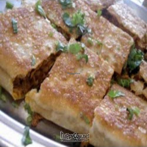 "Photo of Gokul Vegetarian Restaurant and Cafe  by <a href=""/members/profile/Peace%20..."">Peace ...</a> <br/>Vegetarian Murtabak Mutton (is some kind of bread that come with minced meat and curry sauce) <br/> February 26, 2010  - <a href='/contact/abuse/image/4455/3815'>Report</a>"