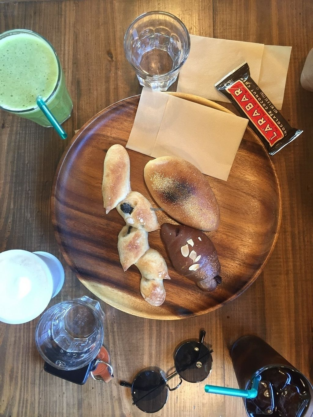 """Photo of CLOSED: Bakery and Cafe Coo  by <a href=""""/members/profile/nannanaps"""">nannanaps</a> <br/>Olive bread, chocolate bread and bread roll filled with curry. They also had larabars for sale! :) <br/> September 11, 2016  - <a href='/contact/abuse/image/44610/175041'>Report</a>"""