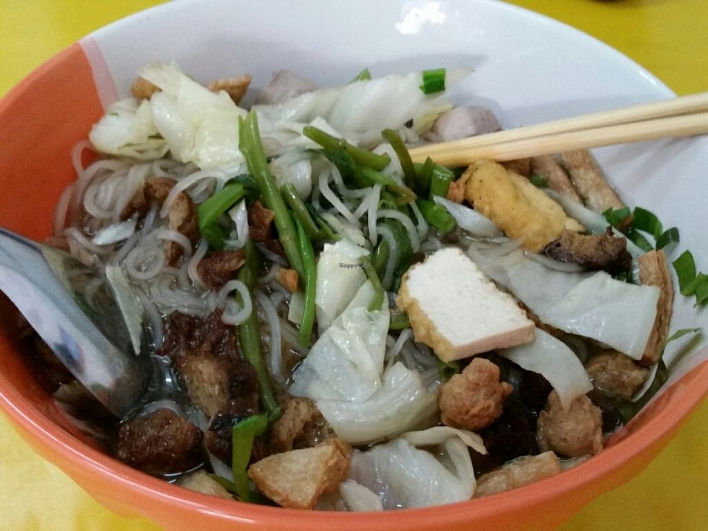 """Photo of Jay - Prajaksinlapacom Road  by <a href=""""/members/profile/eric"""">eric</a> <br/>soup with noodles and mock meat <br/> June 18, 2016  - <a href='/contact/abuse/image/44618/154532'>Report</a>"""