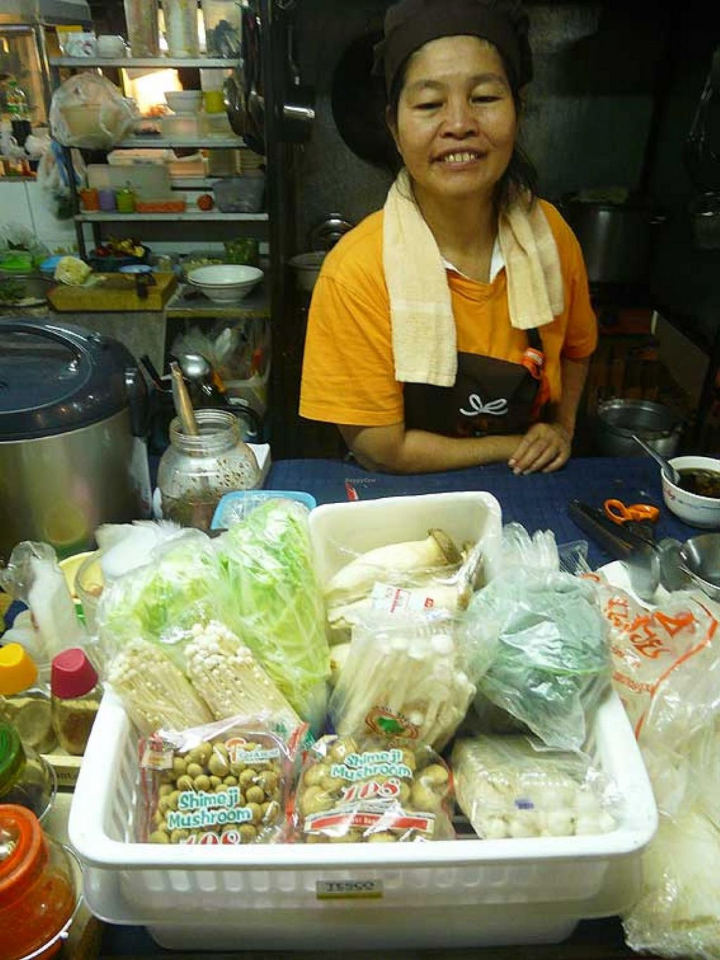 """Photo of CLOSED: Vegetarian Food Stall  by <a href=""""/members/profile/The%20Hammer"""">The Hammer</a> <br/>Fresh mushrooms and fresh veggies <br/> January 19, 2014  - <a href='/contact/abuse/image/44619/62753'>Report</a>"""