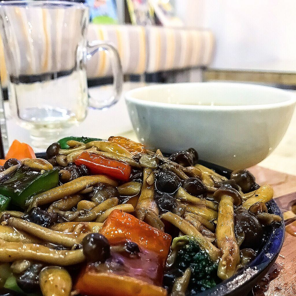 "Photo of Loving Hut  by <a href=""/members/profile/Sweetveganneko"">Sweetveganneko</a> <br/>Black pepper mushroom <br/> March 20, 2018  - <a href='/contact/abuse/image/44628/373137'>Report</a>"