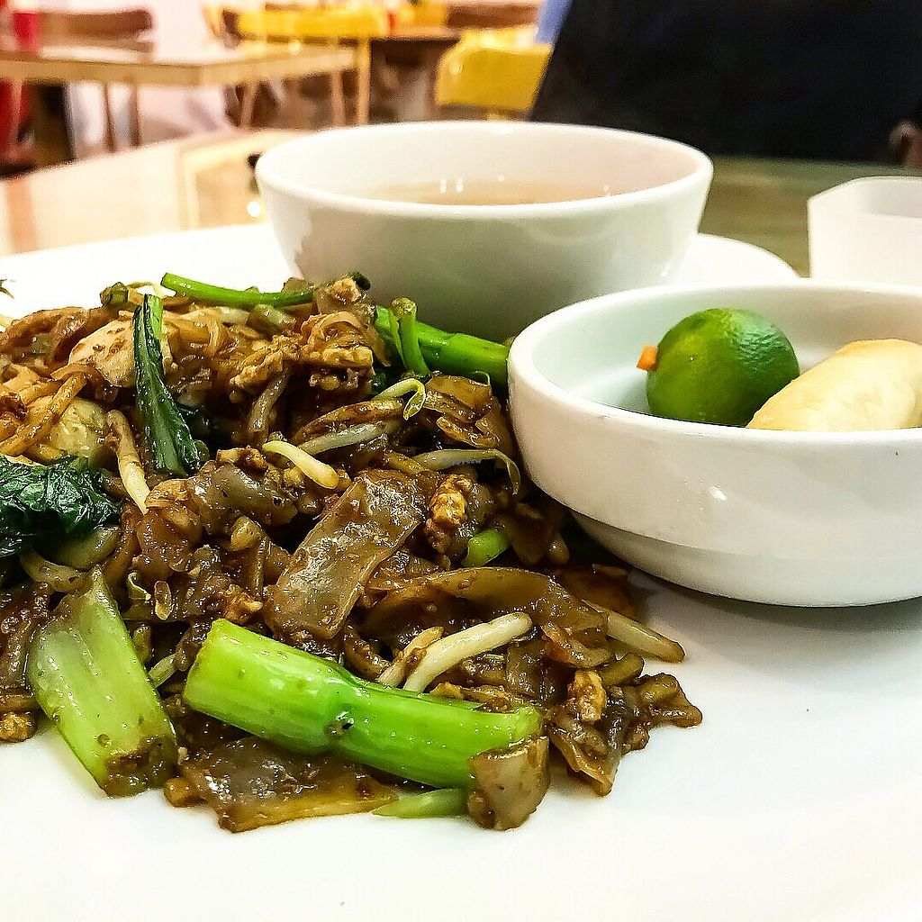 "Photo of Loving Hut  by <a href=""/members/profile/Sweetveganneko"">Sweetveganneko</a> <br/>Char kway teow with spring rolls and soup <br/> March 20, 2018  - <a href='/contact/abuse/image/44628/373139'>Report</a>"