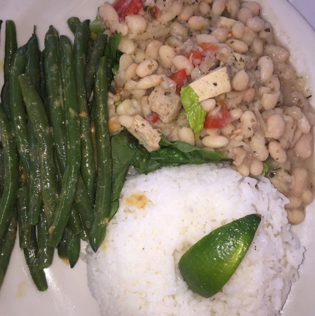"Photo of Johnny Mango World Cafe and Bar  by <a href=""/members/profile/vegnoms"">vegnoms</a> <br/>Happy beans, green beans, jasmine rice <br/> June 11, 2016  - <a href='/contact/abuse/image/44642/153448'>Report</a>"