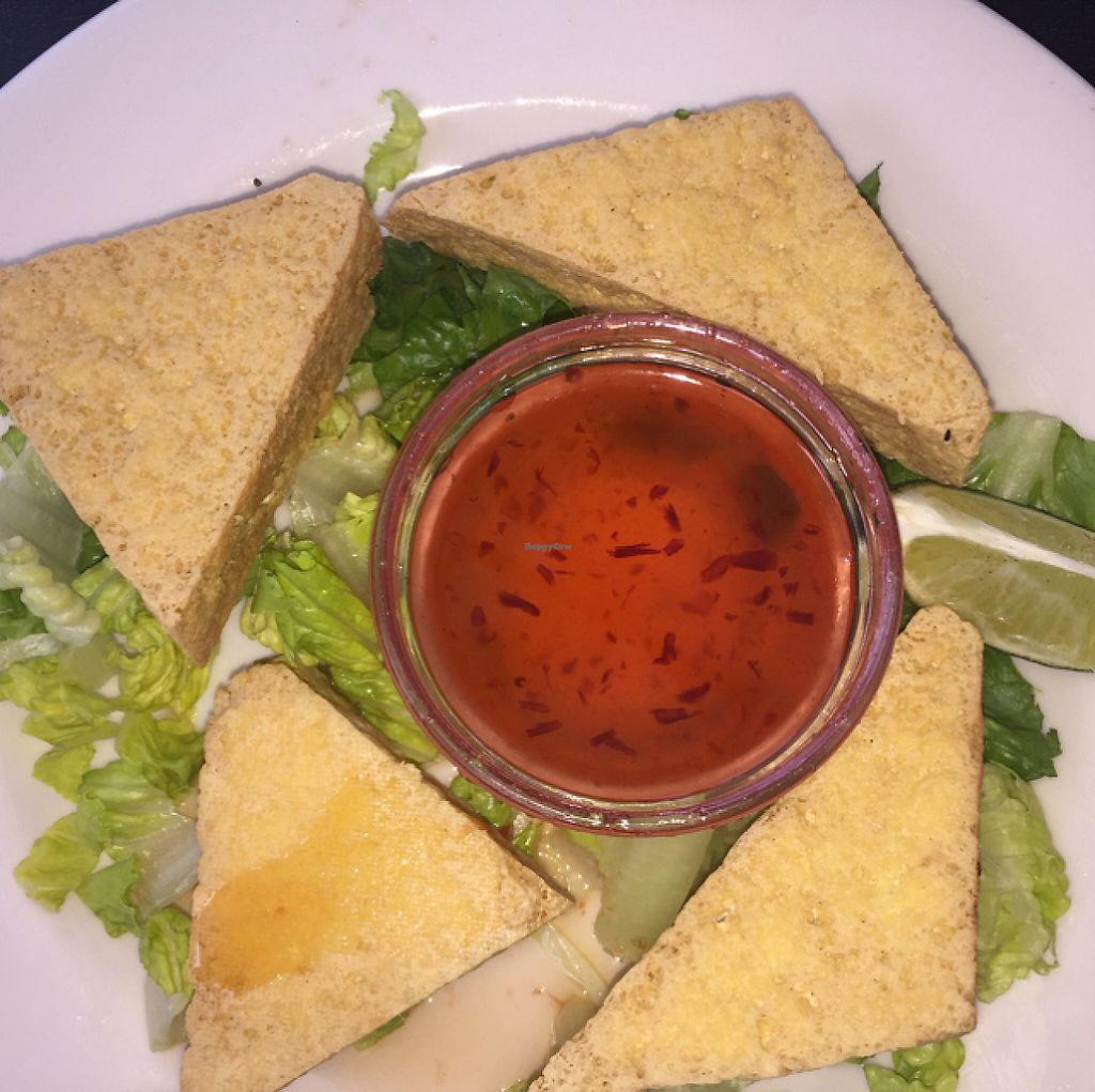 "Photo of Johnny Mango World Cafe and Bar  by <a href=""/members/profile/vegnoms"">vegnoms</a> <br/>Fried tofu with chili garlic sauce <br/> June 11, 2016  - <a href='/contact/abuse/image/44642/216627'>Report</a>"