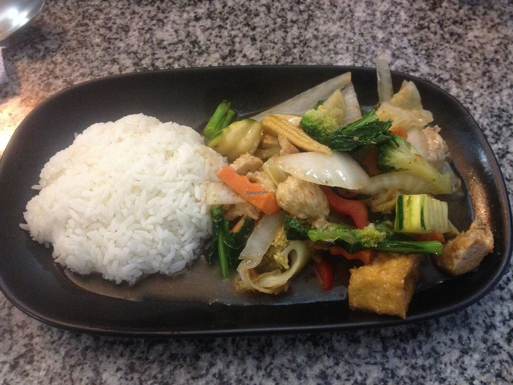 "Photo of Peace Harmony  by <a href=""/members/profile/vegan_ryan"">vegan_ryan</a> <br/>Tofu + seitan + vegetables lunch special <br/> January 17, 2016  - <a href='/contact/abuse/image/4465/132698'>Report</a>"