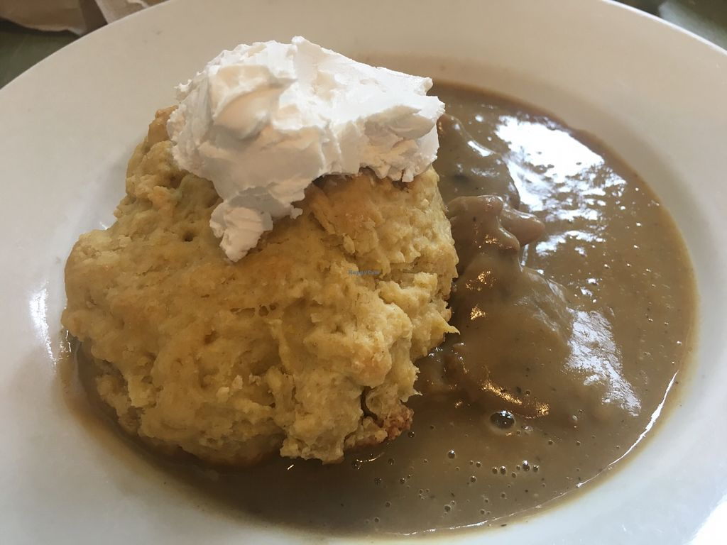 """Photo of Riverwest Co-op Cafe  by <a href=""""/members/profile/SkyFitzgerald"""">SkyFitzgerald</a> <br/>Half portion biscuits and gravy <br/> May 20, 2018  - <a href='/contact/abuse/image/4466/402578'>Report</a>"""