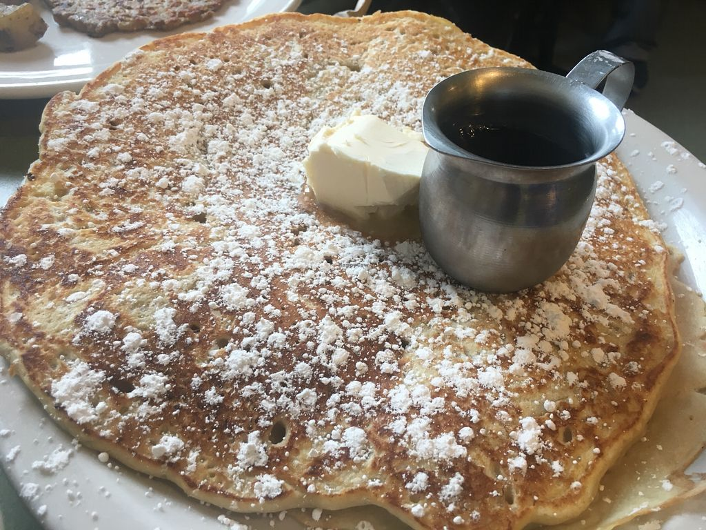 """Photo of Riverwest Co-op Cafe  by <a href=""""/members/profile/SkyFitzgerald"""">SkyFitzgerald</a> <br/>Half portion of pancakes <br/> May 20, 2018  - <a href='/contact/abuse/image/4466/402579'>Report</a>"""
