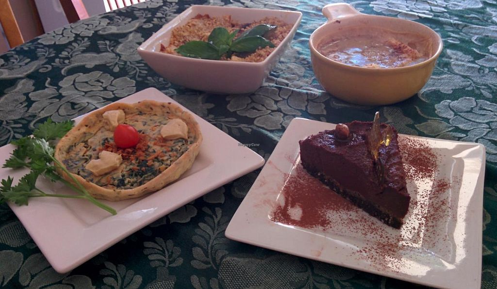 "Photo of Studio Voodoo  by <a href=""/members/profile/Ausargent"">Ausargent</a> <br/>4 dishes: Mushroom lasagne, bread and butter pudding, quiche, choc-hazelnut cheesecake <br/> October 10, 2014  - <a href='/contact/abuse/image/44674/82534'>Report</a>"