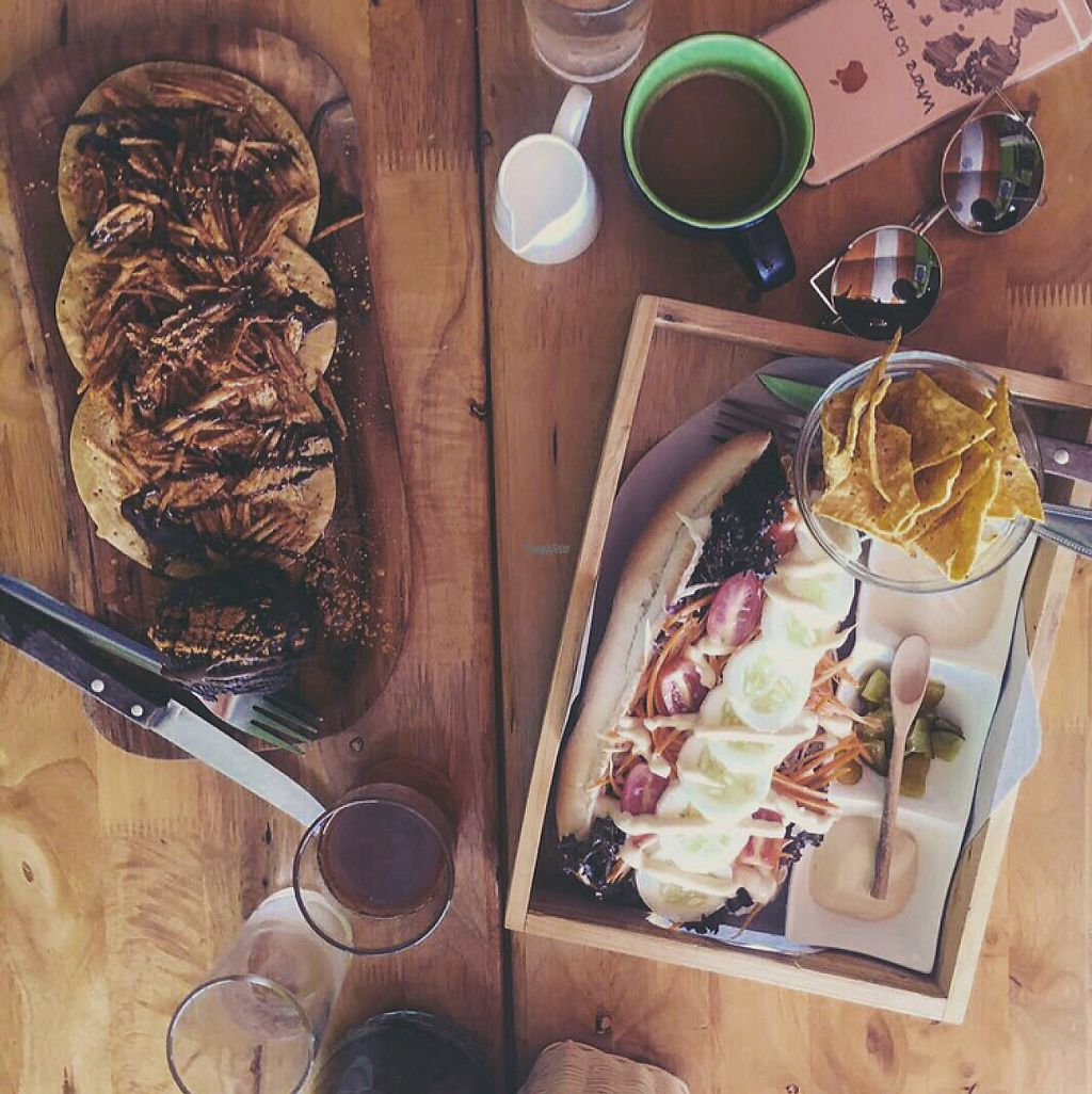 """Photo of Eat Co 2  by <a href=""""/members/profile/ViktoriaWeber"""">ViktoriaWeber</a> <br/>the vegan pancakes with chocolate ice cream and one of their baguettes  <br/> April 30, 2017  - <a href='/contact/abuse/image/44676/253989'>Report</a>"""