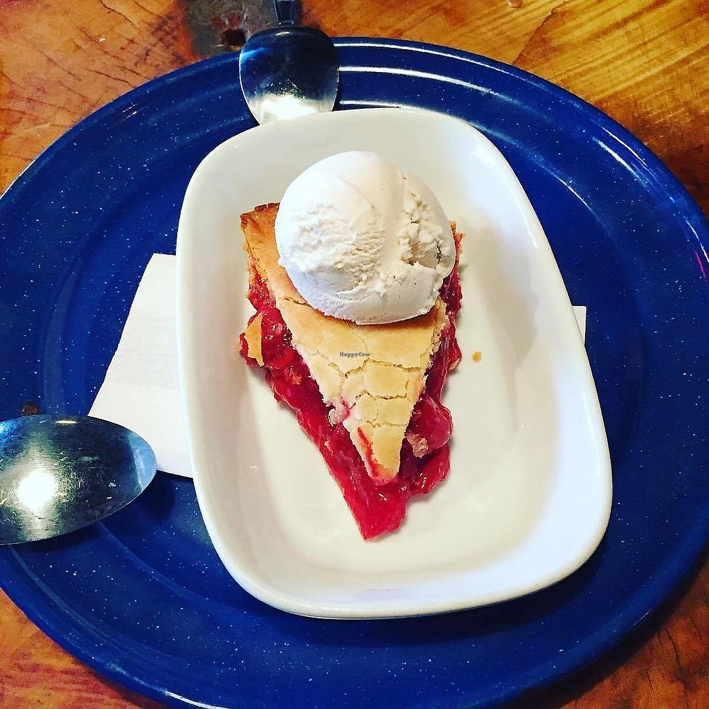 """Photo of The Black Lodge - Kingsway  by <a href=""""/members/profile/LindseyElizabeth"""">LindseyElizabeth</a> <br/>Vegan cherry pie & ice cream <br/> August 29, 2017  - <a href='/contact/abuse/image/44685/298832'>Report</a>"""