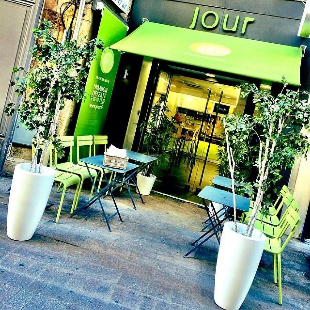 """Photo of CLOSED: jour  by <a href=""""/members/profile/HadrienPecnard"""">HadrienPecnard</a> <br/>Jour's front door and terasse <br/> August 19, 2014  - <a href='/contact/abuse/image/44700/77447'>Report</a>"""
