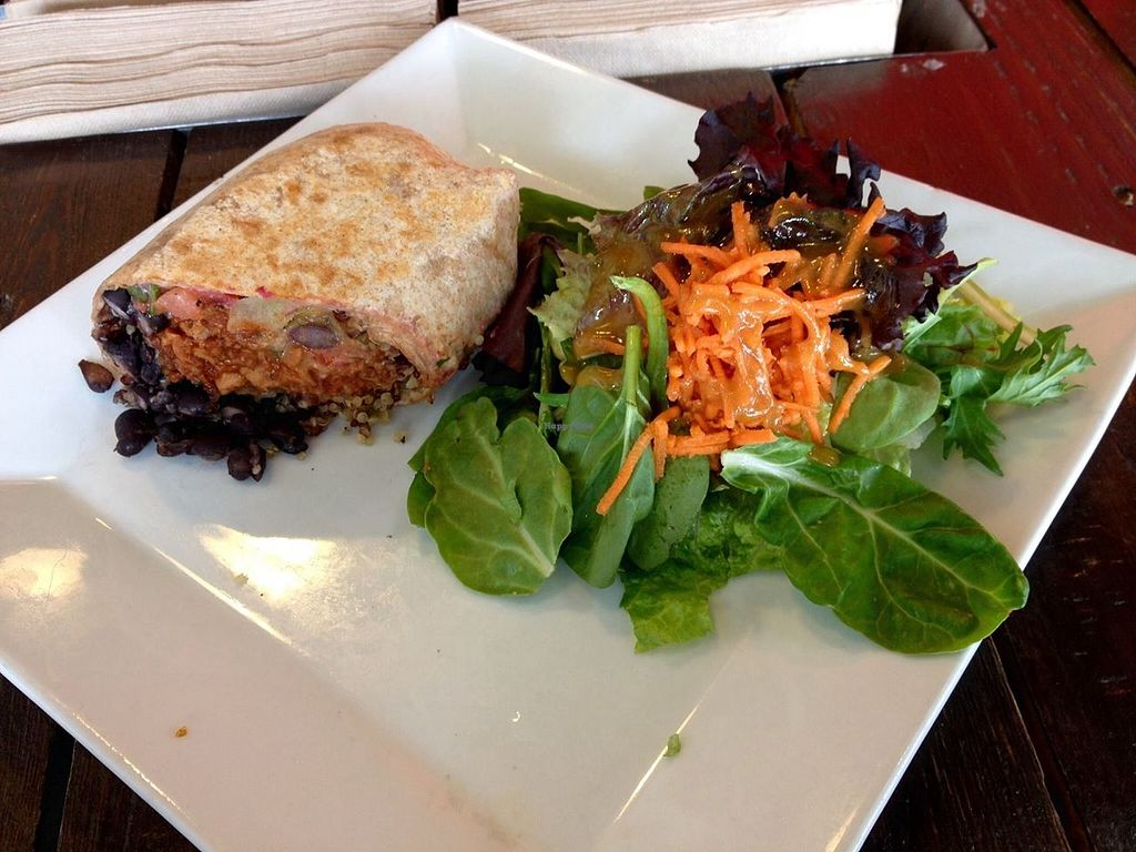 "Photo of CLOSED: Choices Cafe  by <a href=""/members/profile/clovely.vegan"">clovely.vegan</a> <br/>soy chorizo 'insane mex' wrap! <br/> October 21, 2015  - <a href='/contact/abuse/image/44707/122060'>Report</a>"