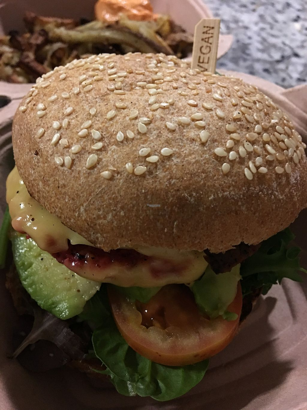 """Photo of CLOSED: Choices Cafe  by <a href=""""/members/profile/myra975"""">myra975</a> <br/>Cold Veggie Burger <br/> March 19, 2017  - <a href='/contact/abuse/image/44707/238474'>Report</a>"""