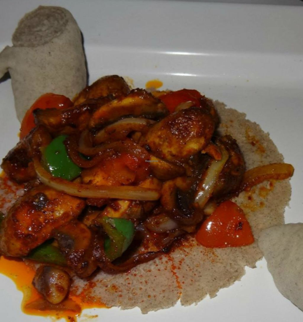 """Photo of DAS Ethiopian  by <a href=""""/members/profile/Adele17"""">Adele17</a> <br/>Spicy mushroom vegan starter <br/> December 19, 2014  - <a href='/contact/abuse/image/44719/191773'>Report</a>"""