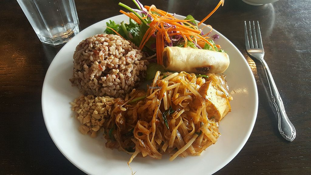 "Photo of Araya's Place  by <a href=""/members/profile/gypsysoulfire"">gypsysoulfire</a> <br/>pad Thai lunch special w/ brown rice, salad, & spring roll  (not pictured: soup to start) <br/> May 23, 2018  - <a href='/contact/abuse/image/44769/403711'>Report</a>"