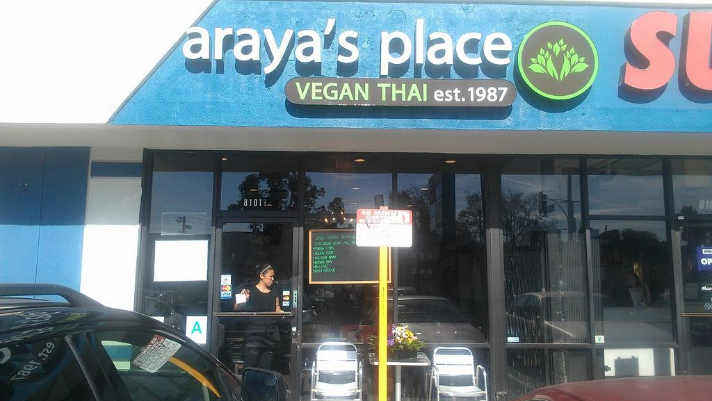 "Photo of Araya's Place  by <a href=""/members/profile/kenvegan"">kenvegan</a> <br/>Outside Araya's Place <br/> January 25, 2014  - <a href='/contact/abuse/image/44769/63127'>Report</a>"