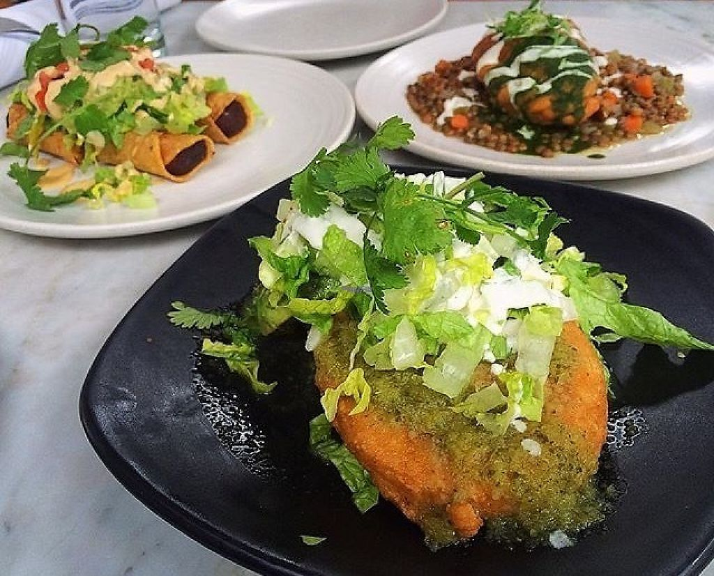 "Photo of Gracias Madre - WeHo  by <a href=""/members/profile/thePLURvegan"">thePLURvegan</a> <br/>We got to try the gorditas, winter empanadas and flautas de camote all very delicious! <br/> January 7, 2017  - <a href='/contact/abuse/image/44780/209093'>Report</a>"